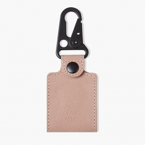 Leather tag pink