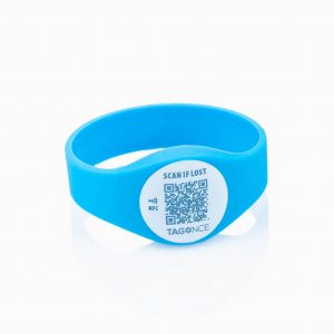 Child tag blue