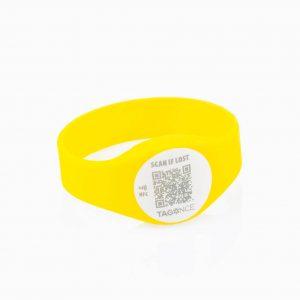 Child tag yellow