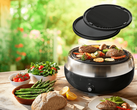 Black duo grill plate LOWRES Grillerette